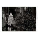 Tarjeta de centro del árbol de navidad de Rockefel