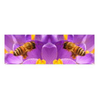 Tarjeta de cernido del perfil del ~ de la abeja tarjetas de visita mini