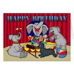 Tarjeta de Childs del feliz cumpleaños del elefant