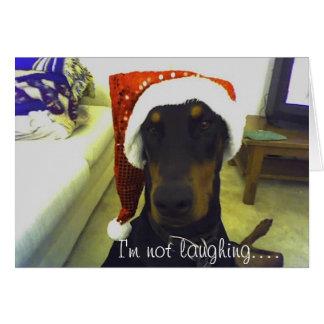 Tarjeta de Christmast del Doberman