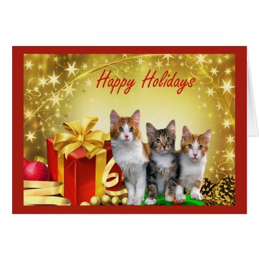 Tarjeta de Chrstmas del gato