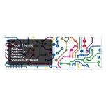 Tarjeta de circuito 2 plantilla de tarjeta de visita