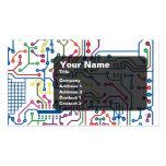 Tarjeta de circuito tarjeta de visita