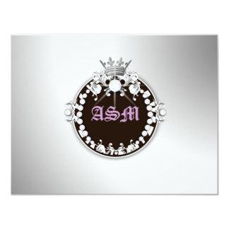 tarjeta de Cirque Brown RSVP de la lila del Invitación 10,8 X 13,9 Cm