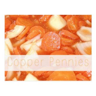 Tarjeta de cobre de la receta de los peniques postal