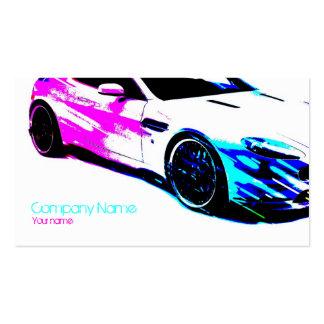 Tarjeta de coche de carreras pintada blanco simple tarjeta de negocio