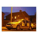 tarjeta de coche policía