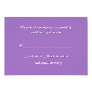 """Tarjeta de color de malva de uso múltiple de la invitación 3.5"""" x 5"""""""