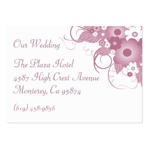Tarjeta de color de malva del perfil de las tarjetas de visita