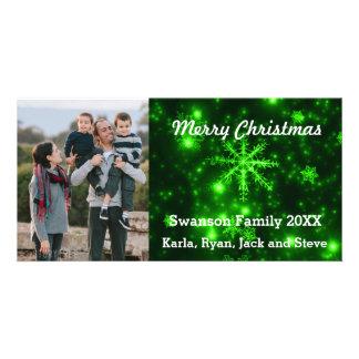 Tarjeta de color verde oscuro de la foto del fondo tarjetas con fotos personalizadas
