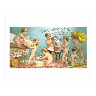 Tarjeta de comercio catártica de los bebés de las  postales