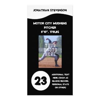 Tarjeta de comercio de la foto de los deportes, eq tarjetas fotograficas personalizadas
