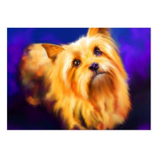 Tarjeta de comercio del arte de Yorkshire Terrier  Tarjeta De Visita