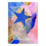 Tarjeta de comercio del artista de la estrella azu plantillas de tarjeta de negocio