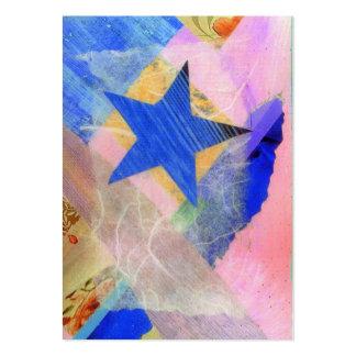 Tarjeta de comercio del artista de la estrella tarjetas de visita grandes