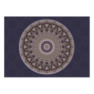 Tarjeta de comercio del artista de la mandala de tarjetas de visita grandes
