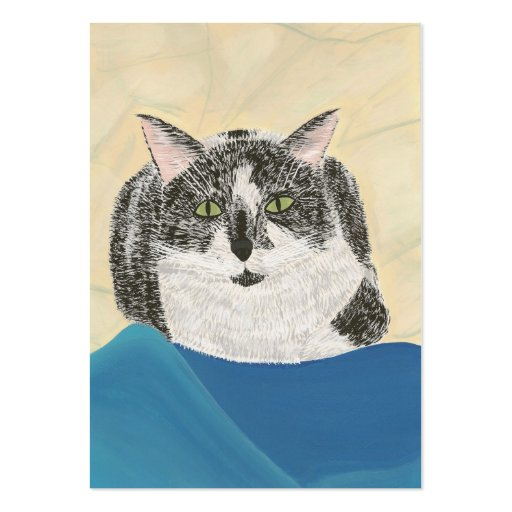 Tarjeta de comercio del artista del gato del smoki tarjeta de visita