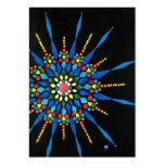 Tarjeta de comercio del artista del mosaico de la  plantilla de tarjeta de visita