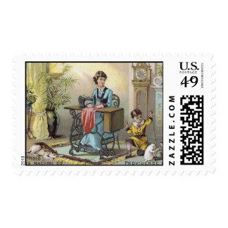 Tarjeta de comercio del Co. de la máquina de coser Estampilla