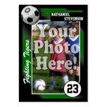 Tarjeta de comercio del fútbol, tamaño verde de la tarjetas de visita