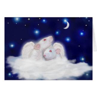 Tarjeta de condolencia angelical de Ratties