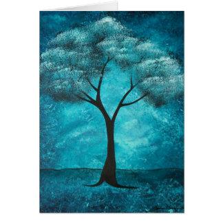 Tarjeta de condolencia azul del árbol