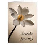 Tarjeta de condolencia blanca del Wildflower
