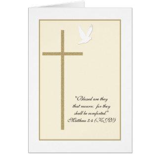 Tarjeta de condolencia cristiana religiosa -- Cruz