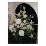 Tarjeta de condolencia de la flor blanca