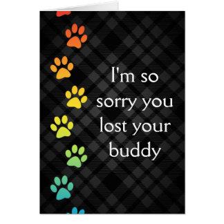 tarjeta de condolencia de la pérdida del mascota
