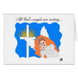 Tarjeta de condolencia de reclinación del ángel