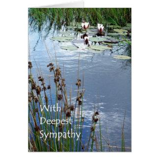 Tarjeta de condolencia de Waterlilies