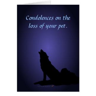 Tarjeta de condolencia del mascota de las condolen