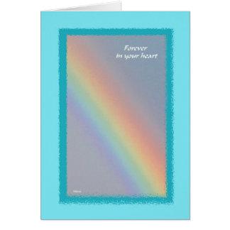 Tarjeta de condolencia del mascota del arco iris
