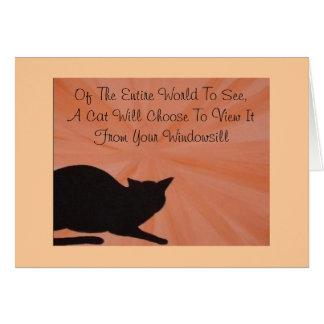 Tarjeta de condolencia del mascota - gato