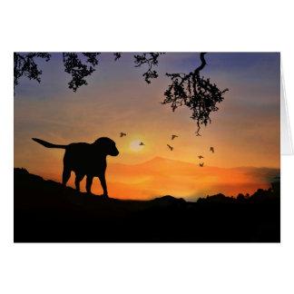 Tarjeta de condolencia del perro