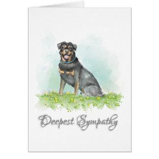 Tarjeta de condolencia del perro - condolencia del