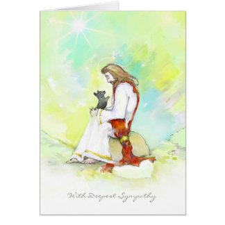 Tarjeta de condolencia del perro - Jesús con el pe