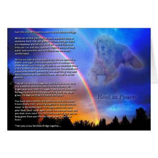 Tarjeta de condolencia del puente del arco iris