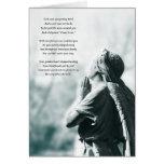 tarjeta de condolencia del rezo del ángel