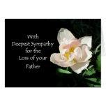 Tarjeta de condolencia del tulipán - pérdida de