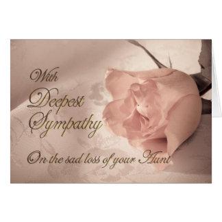 Tarjeta de condolencia en la muerte de una tía