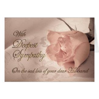 Tarjeta de condolencia en la muerte del marido