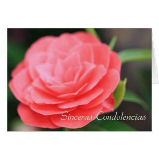 Tarjeta de condolencia española de Sinceras Condol