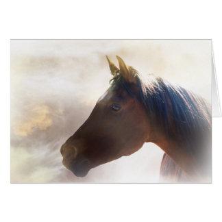 Tarjeta de condolencia espiritual del caballo