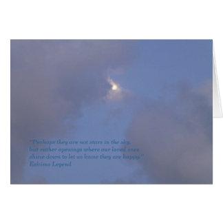 Tarjeta de condolencia - estrellas en el cielo