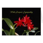 Tarjeta de condolencia floral