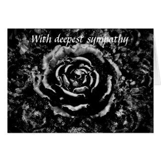 Tarjeta de condolencia gótica subió cementerio neg