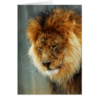 Tarjeta de condolencia - león