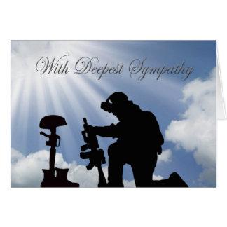 Tarjeta de condolencia militar